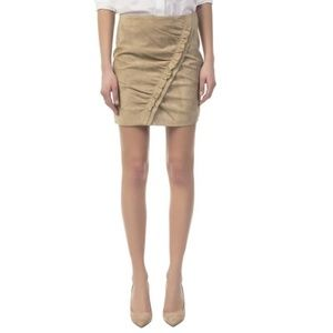 IRO Light Khaki Suede Cerry Skirt